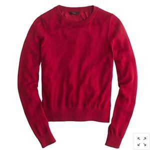 J. Crew Red Merino Wool Crewneck Sweater Large